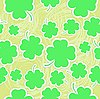 Clover seamless background | Stock Vector Graphics