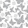Векторный клипарт: Бабочка бесшовные фон