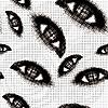 Векторный клипарт: Полутона глаза бесшовные фон