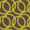 Seamless pattern of golden chains | Stock Vector Graphics