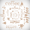 Vector clipart: coffee abstract background