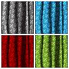Vector clipart: Four color curtains