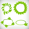 Vector clipart: banners with leaves