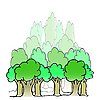 Vector clipart: forest