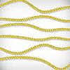 Vector clipart: gold chains background