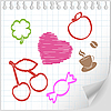 Vector clipart: sheet painted with your favorite things