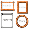 Vector clipart: Vintage photo frames