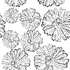 Vector clipart: Seamless floral background black and white
