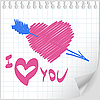 Vector clipart: Valentine hand drawn
