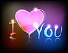 Vector clipart: neon valentine