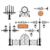 Vector clipart: Wrought iron set