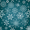 Vector clipart: Christmas blue seamless background