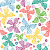 Vector clipart: Seamless pattern with butterflies