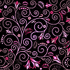 Vector clipart: Black floral seamless pattern