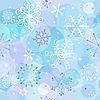 Vector clipart: Seamless winter background