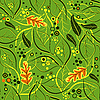 Vector clipart: Green seamless floral pattern