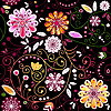 Vector clipart: Seamless dark floral pattern