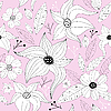 Vector clipart: Pink pastel seamless floral pattern