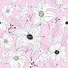 Векторный клипарт: Розовый бесшовный цветочный узор