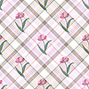 Vector clipart: Seamless gentle floral pattern