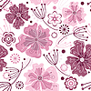 Vector clipart: White and pink seamless floral pattern