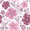 Векторный клипарт: Белые и розовые бесшовные цветочный узор