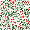 Seamless pattern with red berries | Stock Vector Graphics