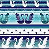 Vektor Cliparts: Striped mühelos Grenzen