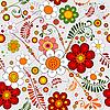 Векторный клипарт: Серый бесшовные цветочный узор