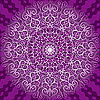 Векторный клипарт: Круглый фиолетовый орнамент