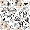 Vector clipart: Gentle repeating floral pattern