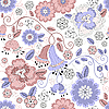 Vector clipart: Seamless pastel floral pattern