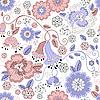Векторный клипарт: Бесшовные пастельных цветочным узором