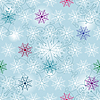 Vector clipart: Christmas pattern with snowflakes