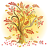 Vector clipart: Autumn colorful tree