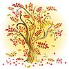 Vektor Cliparts: Autumn bunten Baum