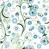 Vektor Cliparts: Weiß nahtlose Blumenmuster