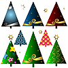 Vector clipart: Set of christmas trees