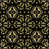 Vector clipart: Seamless black and gold pattern