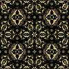 Vektor Cliparts: Seamless Schwarz und Gold-Muster