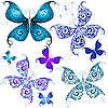 Set of vintage butterflies | Stock Vector Graphics