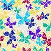 Vector clipart: Seamless pattern with butterflies