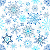 Vector clipart: Christmas seamless background of snowflakes