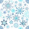 Векторный клипарт: новогодний бесшовный фон из снежинок