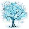 Winter tree of snowflakes | Stock Vector Graphics
