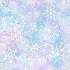 Vector clipart: Seamless christmas background of snowflakes
