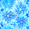 Vector clipart: Seamless floral blue pattern