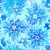 Векторный клипарт: Бесшовный цветочный синий узор