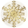 Vector clipart: Gold snowflake