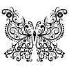 Vector clipart: Vintage black butterfly